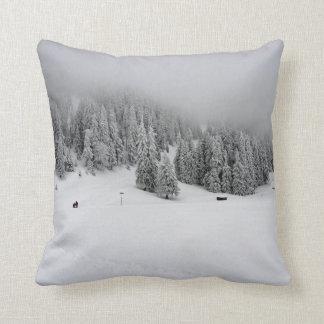 Romania, Winter sports in Piana Brasov, snow Throw Pillows