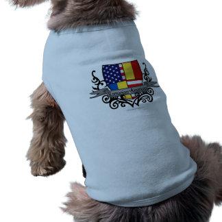 Romanian-American Shield Flag Dog Clothes