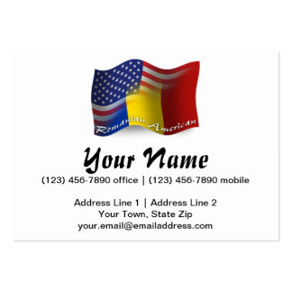 Romanian-American Waving Flag Pack Of Chubby Business Cards