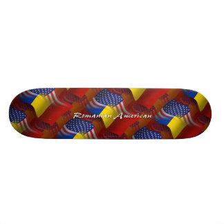 Romanian-American Waving Flag Skate Deck
