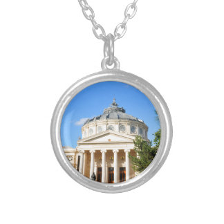 Romanian Athenaeum in Bucharest, Romania Silver Plated Necklace