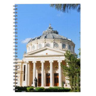 Romanian Athenaeum in Bucharest, Romania Spiral Note Book
