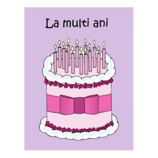 Romanian birthday La Multi Ani Postcard