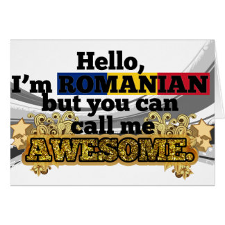 Romanian, but call me Awesome Card