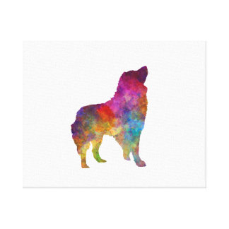 Romanian Carpathian Shepherd Dog in watercolor Canvas Print