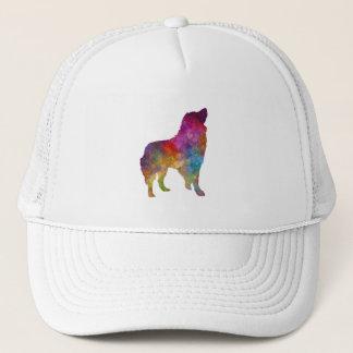 Romanian Carpathian Shepherd Dog in watercolor Trucker Hat