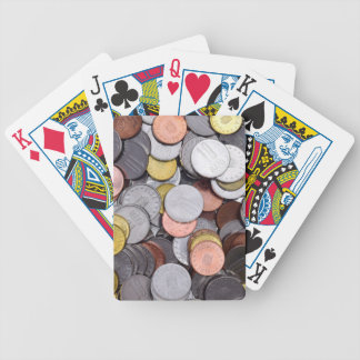 romanian coins bicycle playing cards