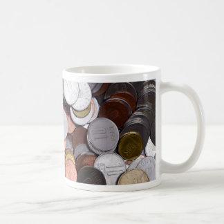 romanian coins coffee mug