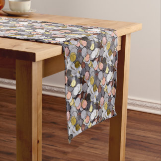 romanian coins short table runner