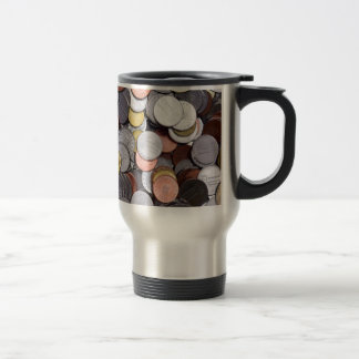 romanian coins travel mug