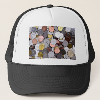 romanian coins trucker hat