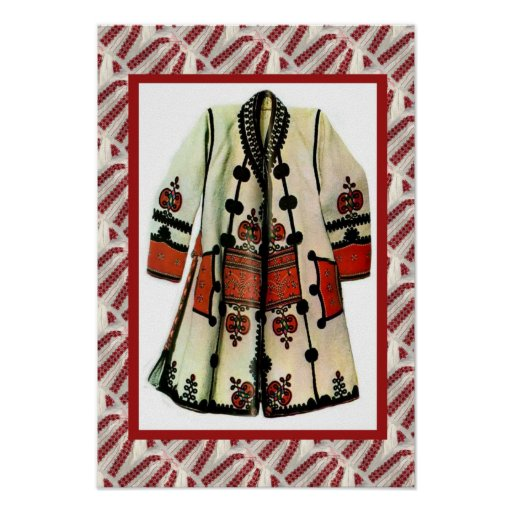 Romanian craft, embroidered coat 1 print