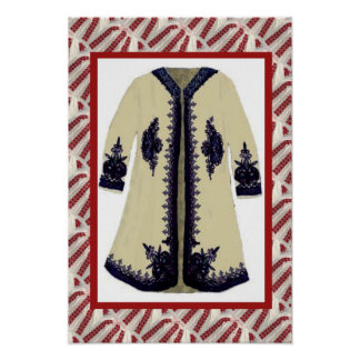 Romanian craft, embroidered coat 2 poster