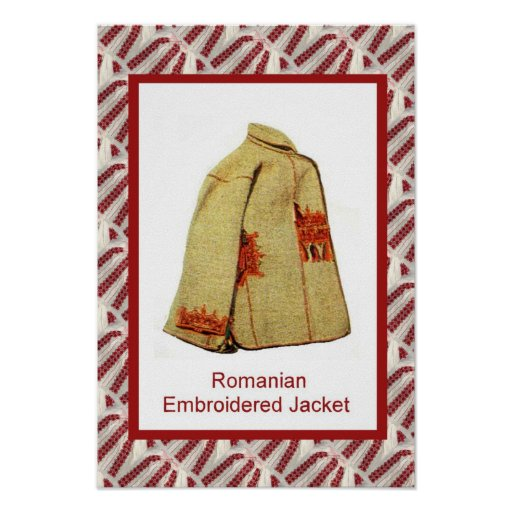 Romanian craft, embroidered jacket posters