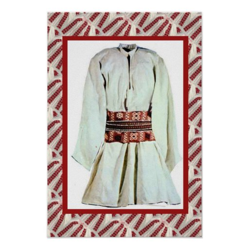 Romanian craft, embroidered male outfit print