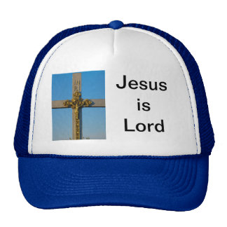 Romanian crucifix Jesus is Lord Mesh Hat