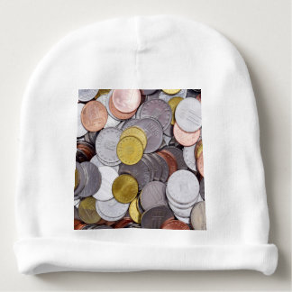 Romanian currency coins baby beanie