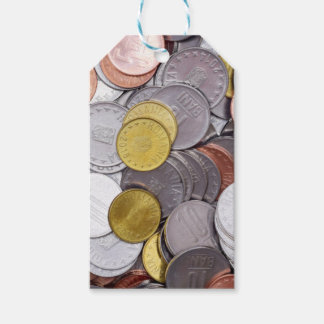 Romanian currency coins gift tags