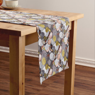 Romanian currency coins short table runner