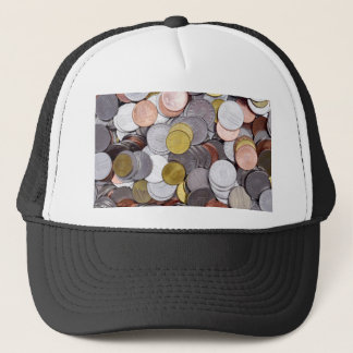 Romanian currency coins trucker hat