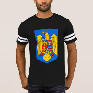 Romanian Eagle Shield Men's Football T-Shirt