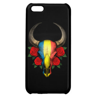 Romanian Flag Bull Skull with Red Roses iPhone 5C Covers