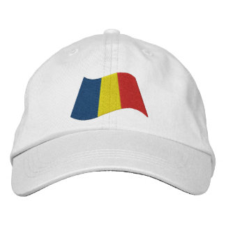 Romanian Flag Embroidered Hats