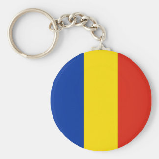 Romanian Flag Key Ring