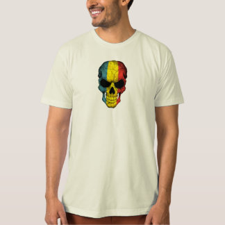 Romanian Flag Skull T-Shirt