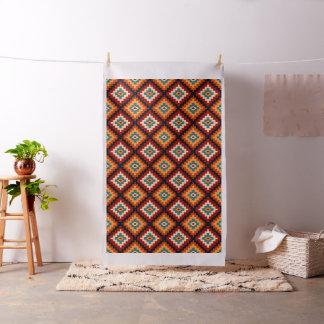 Romanian Folk Art Decorative Pattern Fabric