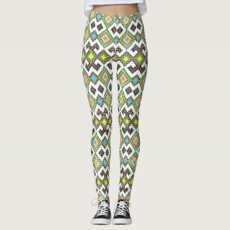 ROMANIAN FOLK ART PATTERN Leggings