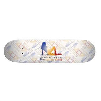Romanian Girl Silhouette Flag Skateboard Decks