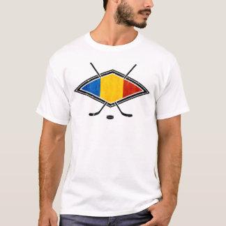 Romanian Ice Hockey Flag Men's T-Shirt