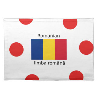 Romanian Language And Romania Flag Design Placemat
