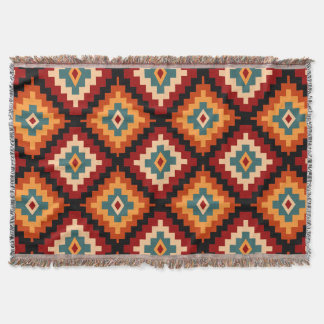 Romanian Motifs Throw Blanket