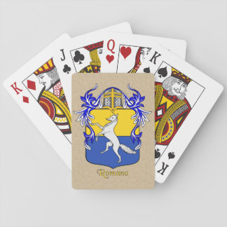 Romano Heraldic Shield and Mantle Playing Cards