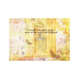Romans 10:13  Italian Renaissance Cross art print Canvas Prints