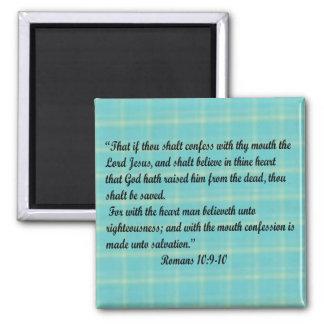 Romans 10:9-10 magnet