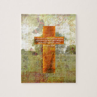 Romans 12:10 Bible Verse about LOVE Jigsaw Puzzle