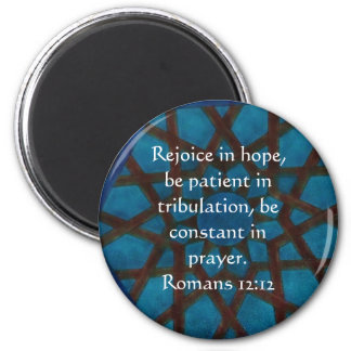 Romans 12:12 Bible Verse about HOPE 6 Cm Round Magnet