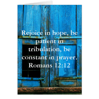 Romans 12:12 Bible Verse About Hope Card