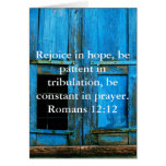 Romans 12:12 Bible Verse About Hope Cards