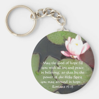 Romans 15:13  Inspirational Bible Verses Key Ring