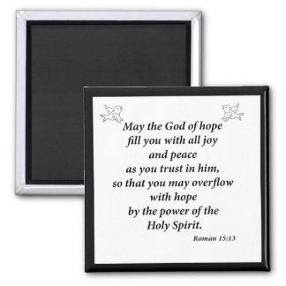 Romans 15:13 magnet