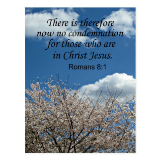 Romans 8:1 There is therefore now no condemnation Postcard
