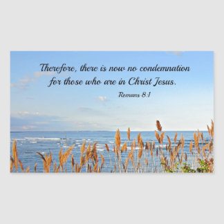 Romans 8:1 Therefore, there is now no condemnation Rectangular Sticker