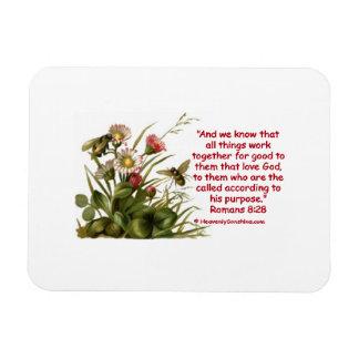 Romans 8:28 Bees Motif Magnet