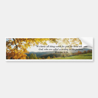 Romans 8:28 bumper sticker