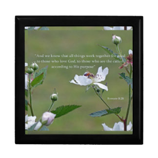Romans 8:28 large square gift box