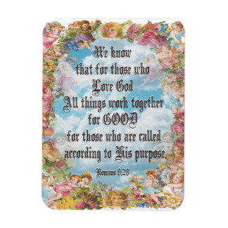 Romans 8:28 rectangular photo magnet